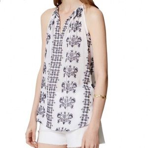 Ann Taylor LOFT Crinkle Cotton Embroidered Cami MP